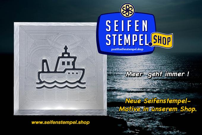 Seifenstempel Schiff, Seifenstempel Boot, Acrylglasstempel