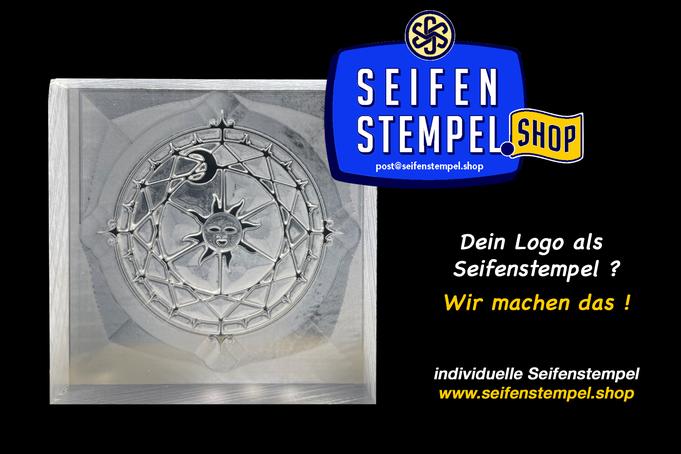 Seifenstempel Shop, Seifenstempel mit eigenem Motiv, individueller Seifenstempel