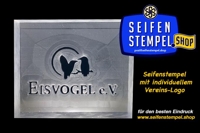 Seifenstempel mit Wunschmotiv, personalisierter Seifenstempel, Seifenstempel mit eigenem Logo