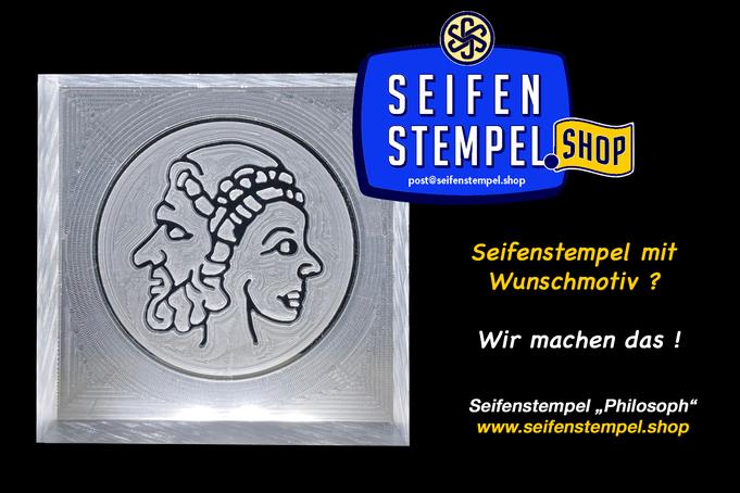Seifenstempel mit Wunschmotiv, individueller Seifenstempel, personalisierter Seifenstempel, Seifenstempel.Shop