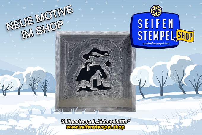 Seifenstempel Winter, Weihnachten, Acrylstempel, Acrylglac-Seifenstempel