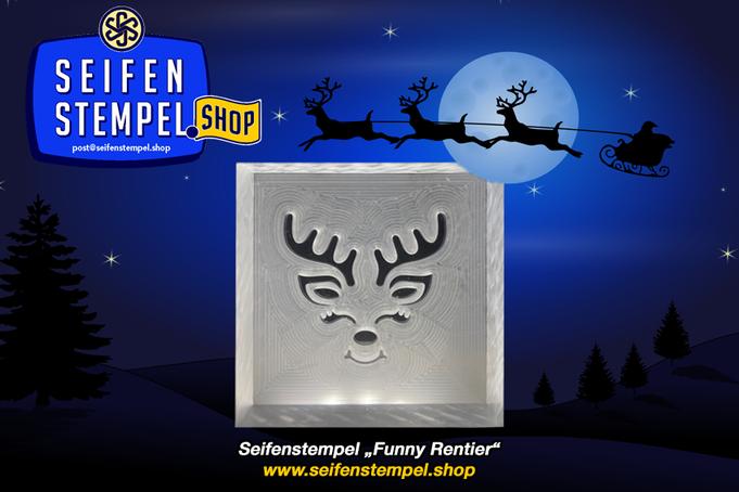 Seifenstempel Weihnachten, Acrylglasstempel, Seifenstempel aus Acrylglas