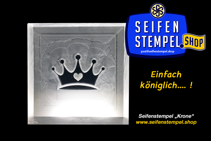 Seifenstempel, Seifenstempel Shop, Seifenstempel aus Acrylglas, Seifenstempel Krone