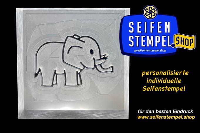 Seifenstempel mit Wunschmotiv, individueller Seifenstempel, Seifenstempel.Shop