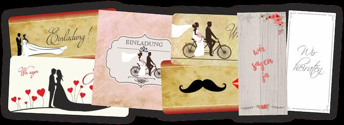 Einladungskarten Einladung zur Hochzeit