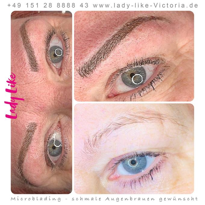 Symmetrie der Augenbrauen in Permanent Make-up ist ein wichtiges Kriterium und Anforderung an Qualität