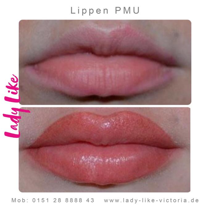 Permanent make-up der Lippen,Authentisches Foto, Kundin von LadyLikeVictoria, bitte klicke um mehr zu erfahren