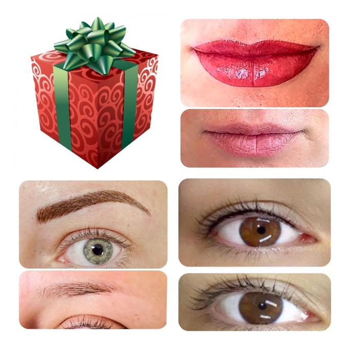 Komplettes Permanent Make-up - Augenlid, Lippen und Augenbrauen ist die perfekte Lösung