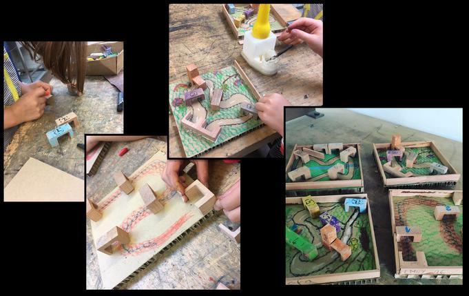 Murmalbahnen aus Holzresten
