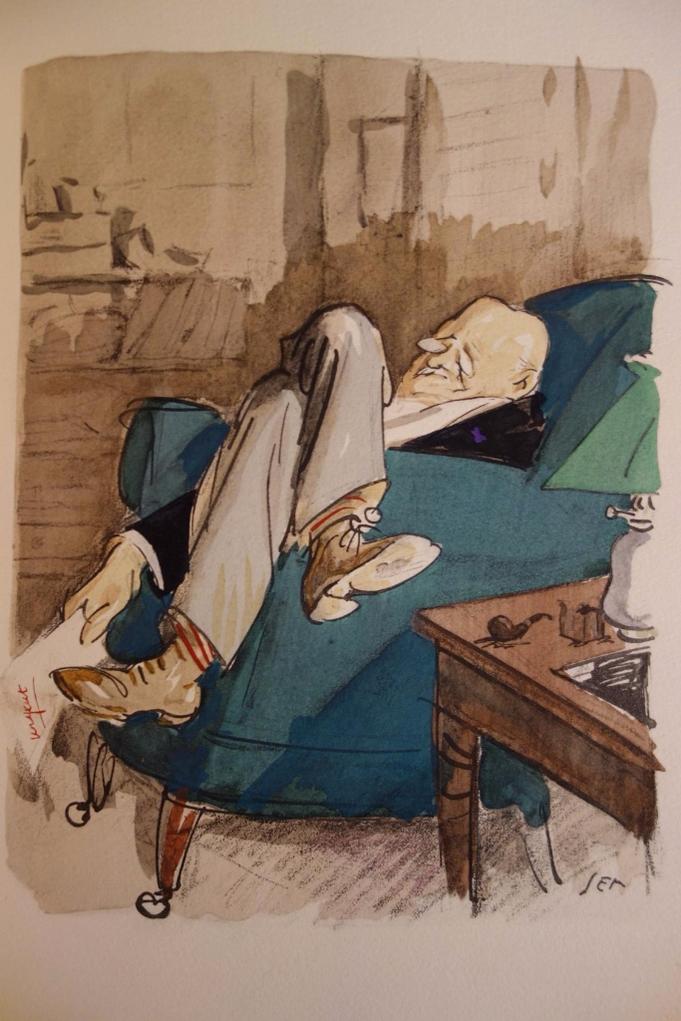 Georges Courteline, Messieurs les ronds-de-cuir, livre rare, envoi autographe signé, aquarelles de Piem