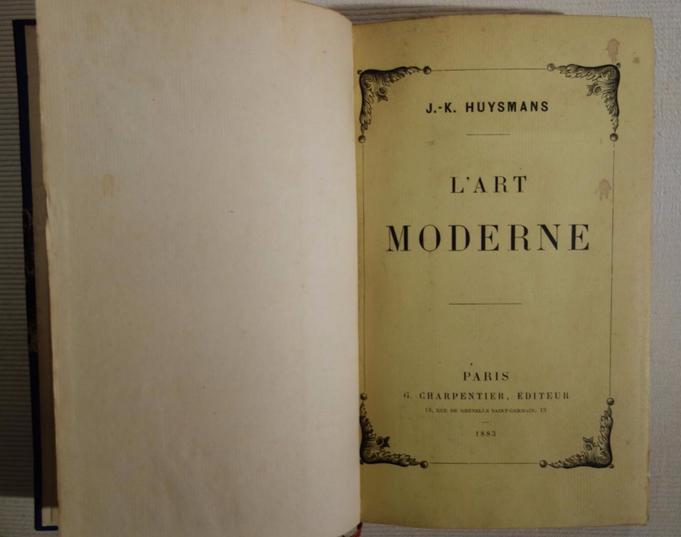 Huysmans, L'Art moderne, livre rare, édition originale