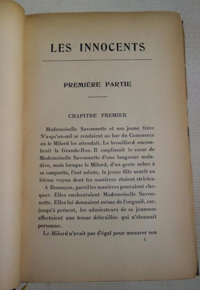 Francis Carco, Les Innocents, livre rare, édition originale