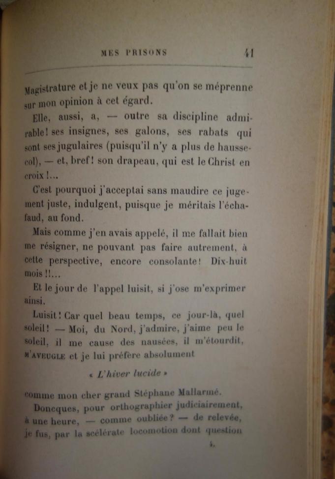 Paul Verlaine, Mes Prisons, livre rare, édition originale