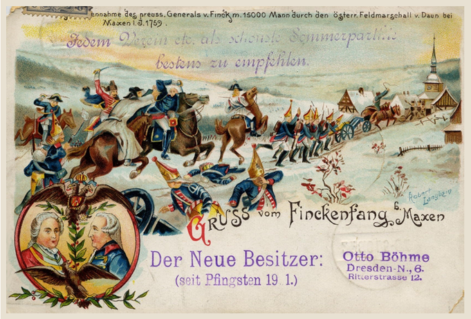 Historische Postkarte vom Finckenfang (Nachdruck)