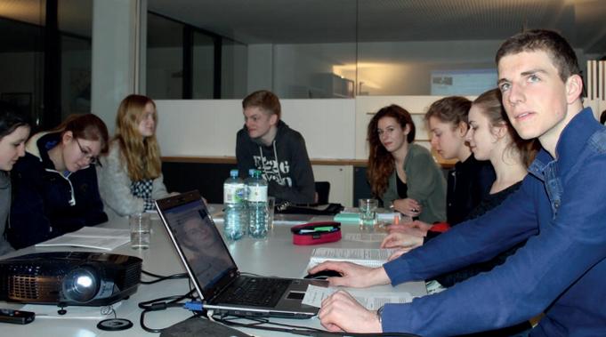 Reguläres Treffen der bürger:sinn:company in ihrem Tagungsraum