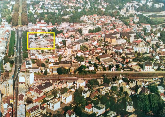 A partir de photos aériennes de 1985, Maisons-Laffitte avant-après