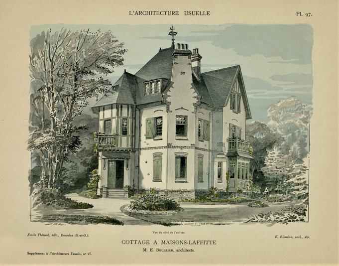 """Un """"Cottage"""" à l'honneur dans une revue d'architecture en 1911"""