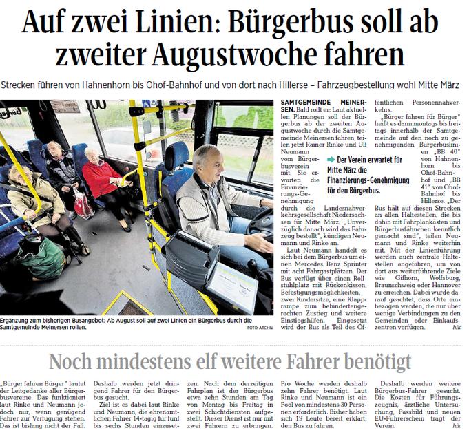 Aller-Zeitung vom 7.3.2017