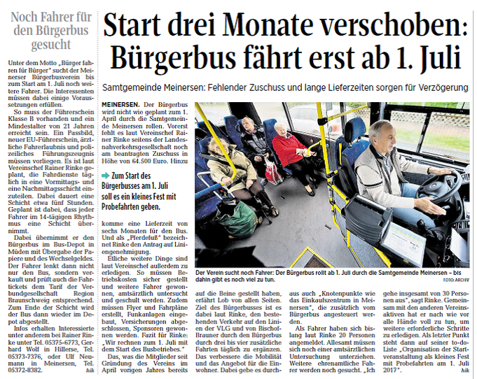 Aller-Zeitung vom 14.1.2017