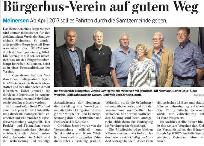 Gifhorner Rundschau vom  16.8.2016