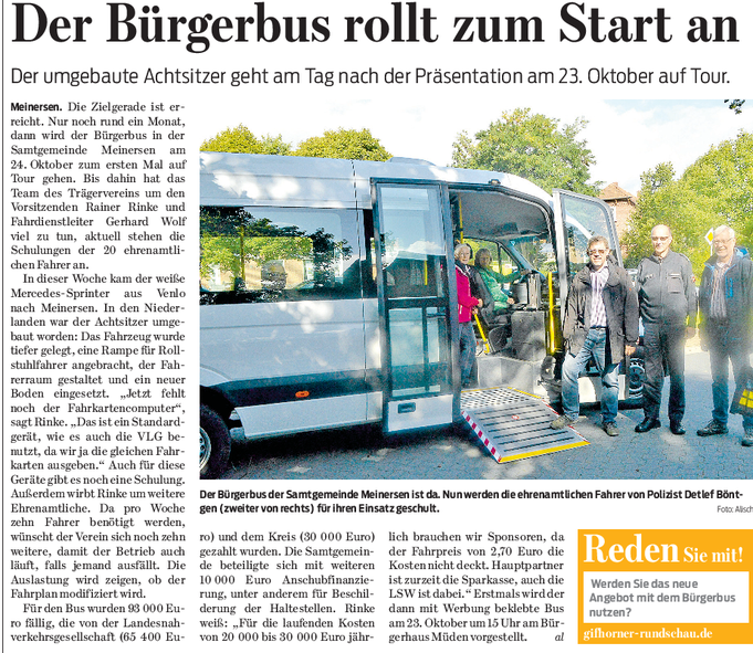 Gifhorner Rundschau vom 16.9.2017