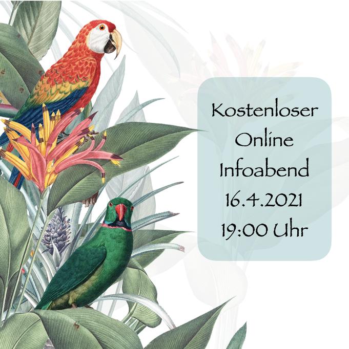 kostenloser online infoabend 16.4.2021, 19:00 Uhr