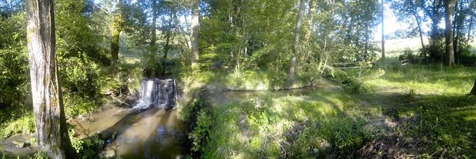 les 2 cascades en amont du canal