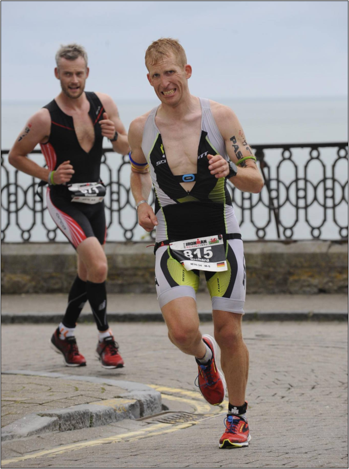 Richie beim Ironman Wales. Bildquelle: Passion for Sports
