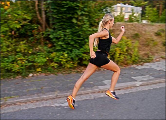 Für Kathrin ist das Laufen das beste Mittel gegen Stress. Bildquelle: Kathrin
