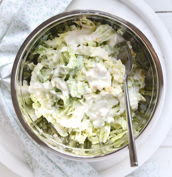 Chinakohl Salat mit Fruchtjoghurt