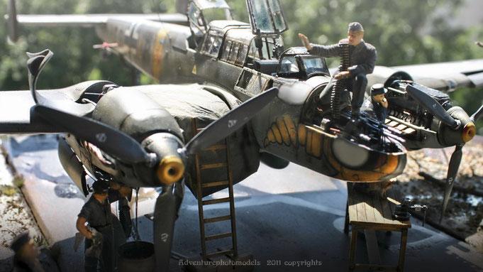 "Messerschmitt Bf 110 C/7  by Dragon model kit scale 1:32 in "" Shooting test """