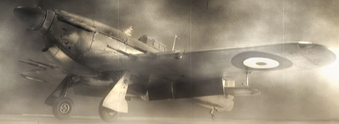 Hawker Hurricane MkII/c Trop - Trumpeter kit scale 1:24 - Walk around  video