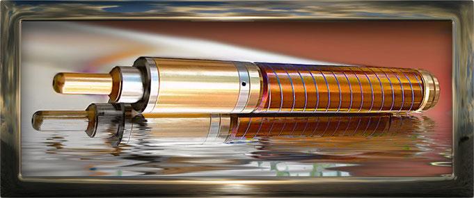 MK1 vom Kopp Design ist einfach schön und sehr aufwendig getempert in den Farben gelb-orange, rötlich und mit blauen Rillen.