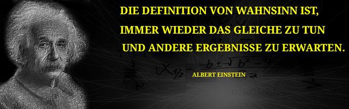 Einstein Zitat Wahnsinn Lernen