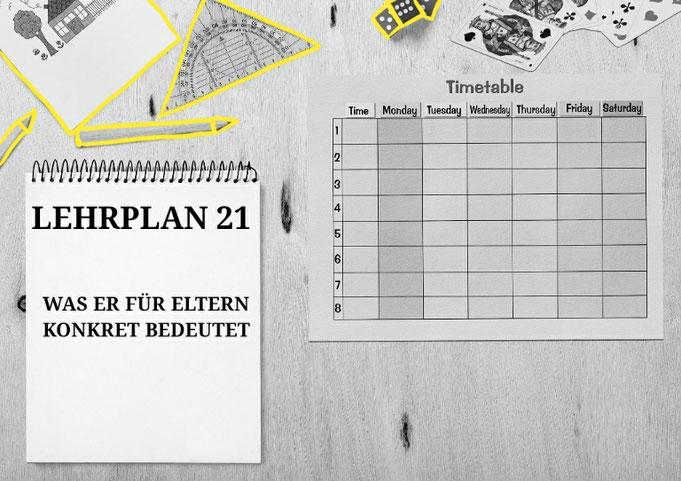 LP21 Lehrplan21 Schule Eltern