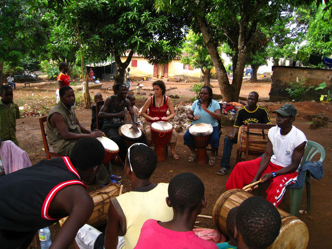 Drumming Classes with  Sayon Camara in Simbaya, Guinea 2006, 07, 08