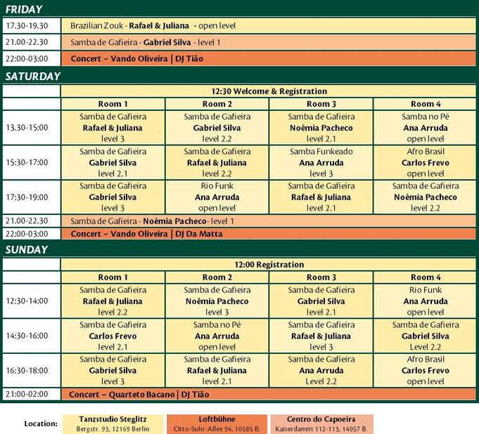 Samba Treffen Program 2018