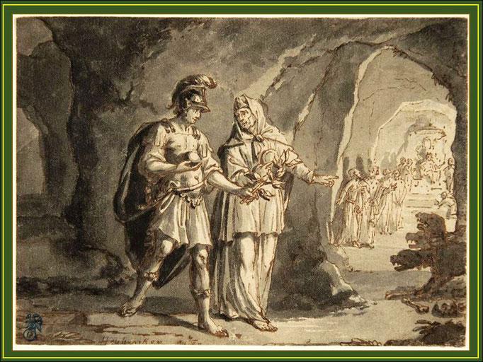Aeneas und Sibylle in der Unterwelt (Wegegabelung zum Elysium) Konrad Houbraken