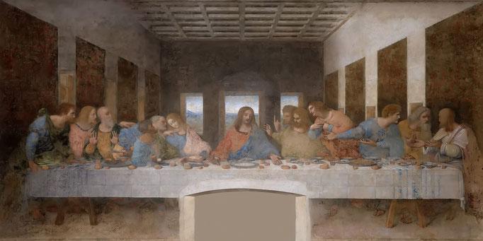 レオナルド・ダ・ヴィンチ《最後の晩餐》1490s