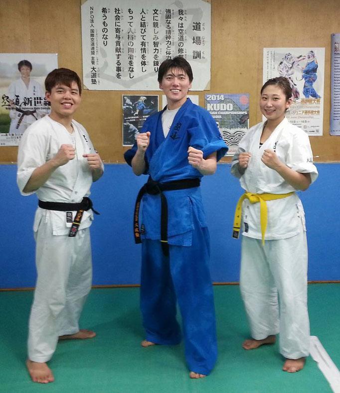 韓国ソウル支部から出稽古のハヌル選手&セヨン選手