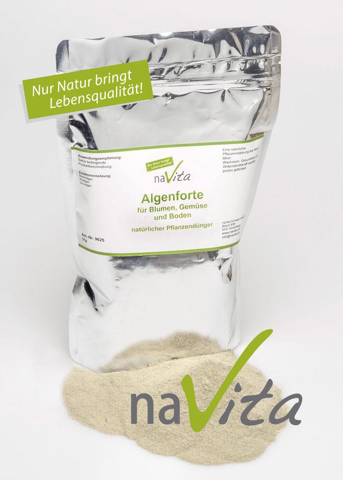 naVita Algenforte für Blumen, Gemüse und Boden (natürlicher Pflanzendünger)