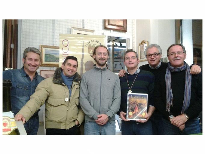 Da sinistra: Franco Iacca, Mariano capozzi, Silvio Scotti, Stefano Plescia, Fausto Cominato e Loris Mazzoletti