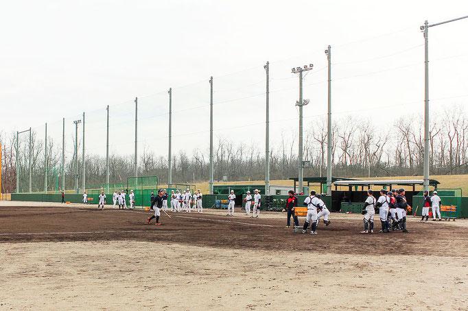 写真 : 新潟医療福祉大学硬式野球部さんの練習風景