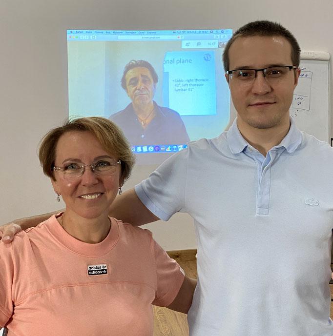 С Дмитрием Горковским на курсе SEAS Michele Romano, Санкт-Петербург, 2020 г.