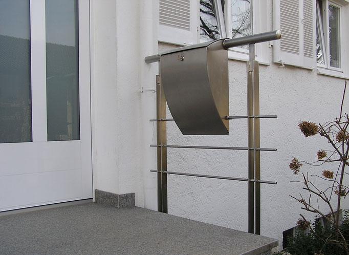 Geländer aus Edelstahl mit Querstäben