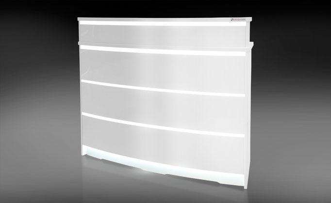 Premium Halbrundetheke mit LED Beleuchtung – R03