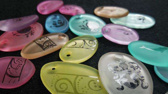 第2回鶴岡クラフト・フェア in 小真木原 7-Colors鶴岡ガラスアート工房出品ガラスアクセサリー