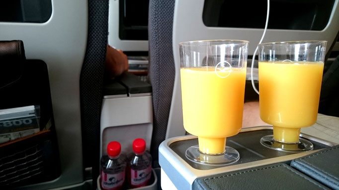 Lufthansa Premium Economy Welcome Drinks