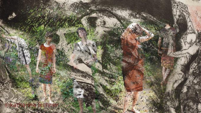 Neue Kleider, Digitale Radierung, Fine Art Print, tiefdruckart, Katharina Lechner