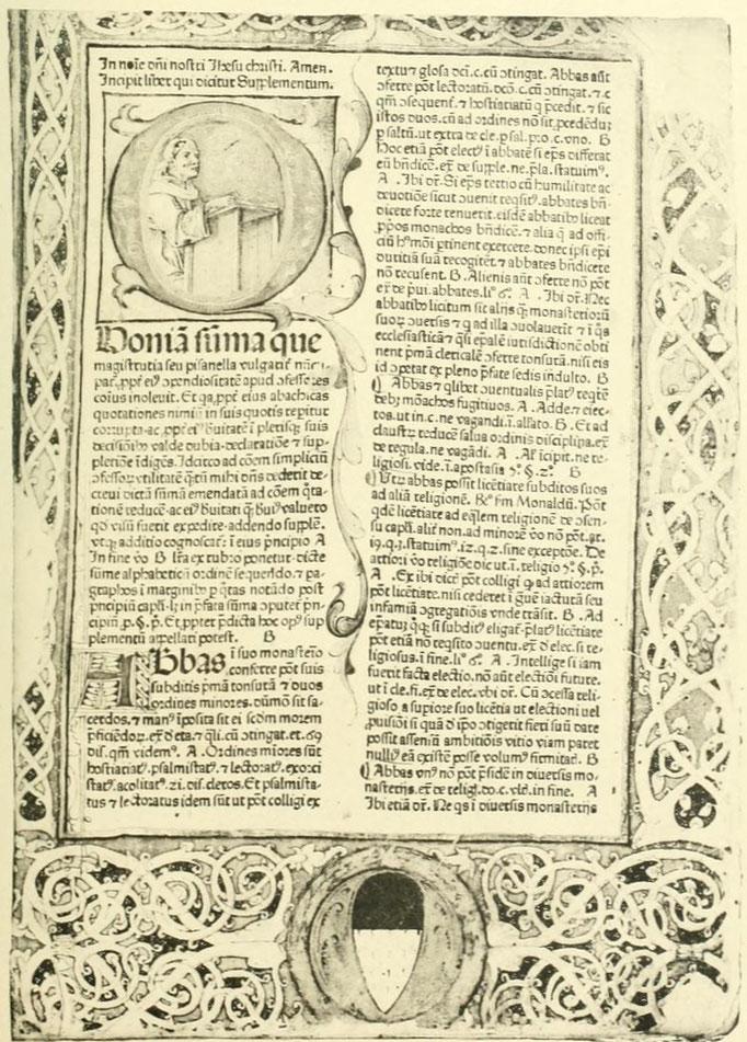 Nic. de Ausmo. Supplementum. Venetiis 1476.